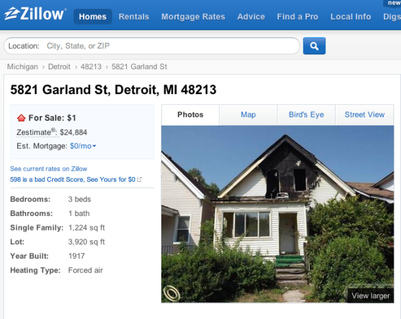 Wikihomepages blog snapshots of life from the places you for Zillow com detroit